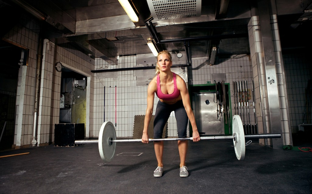 Woman Doing Deadlift